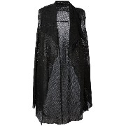 Salvatore Santoro - perforated sleeveless coat - women - レザー - 42