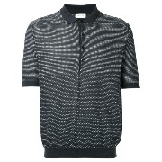 Lemaire - patterned polo shirt - men - コットン/ポリウレタン/カシミア - M