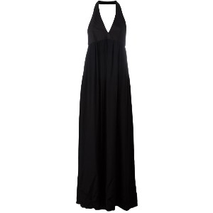 Paco Rabanne - halterneck long dress - women - シルク/コットン/アセテート - 36