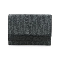 Dior Homme - logo printed wallet - men - カーフレザー/Canvas - ワンサイズ