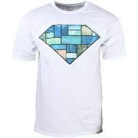 ダイヤモンドサプライ Diamond Supply Co トップス Tシャツ【Diamond Supply Co Men Stained Glass Tee 】