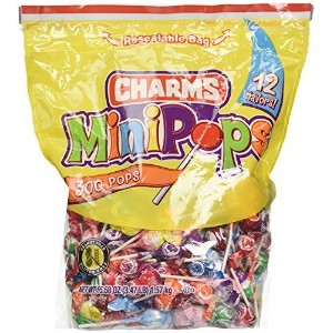 Charms Minipops 12 Assorted Flavors 300 Mini Pops in a Resealable Bag by Charms [並行輸入品]