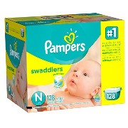 Pampers Swaddlers Diapers Size N Giant Pack 128 Count by Pampers [並行輸入品]