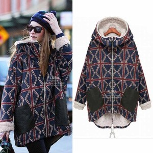 Best Selling Female Long Plus Size 5xl Velvet Thickening Warm Sweatshirt Hoodie Women Printed Plaid...