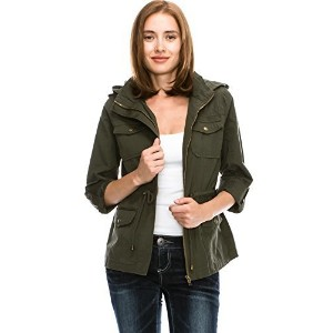 Califul Anorak Lightweight Utility Army Military Jacket Parka Drawstring-