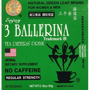 (3 Ballerina) 3 Pack of 3 Ballerina Dieters Tea for Men and Women (3 Boxes of 30 Tea Bags)