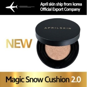 [APRILSKIN] マジックスノークッション Magic Snow Cushion 2.0 VER. Fixing Foundation /Foundation/Korea hot item