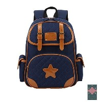 (Moonwind) Moonwind Quilted Bow Star Kids Backpack for Girls Boys Cute School Book Bag