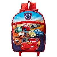(Disney) Disney Boys Cars 12 Inch Rolling Backpack