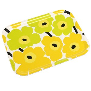 マリメッコ トレー MARIMEKKO 067766 020 MINI UNIKKO PLYWOOD TRAY YELLOW