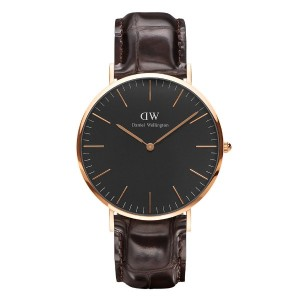 ダニエルウェリントン Daniel Wellington DW00100128 Classic Man 40 mm Black York horloge