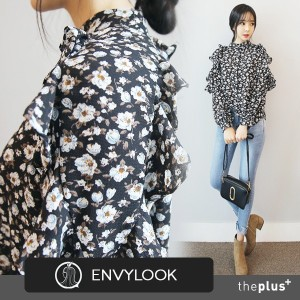 ★ CNY ★ SUPER SALE ★EnvyLook★ NEW ITEM ★ Flower Pattern and Frill detail Blouse ★ Feminine / Soft...