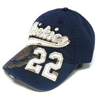 Dickies Distressed 22 Blue Baseball Cap