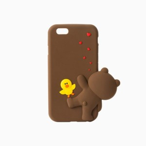 [NEW] LINE FRIENDS STORE OFFICIAL GOODS : Brown Figure Silicon iPhone 6S Case II