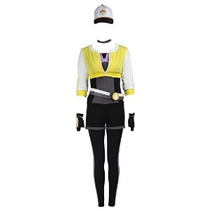 (Manles) Manles Women s Pokemon Go Cosplay Costume Teams Trainer Yellow Suit