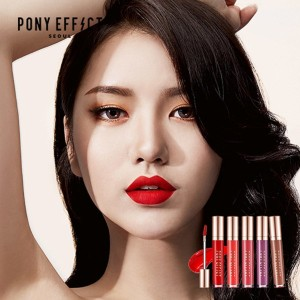 [NEW] Make-up Artist PONYs New Brand Pony Effect Seoul Stayfit Matte Lip Colour