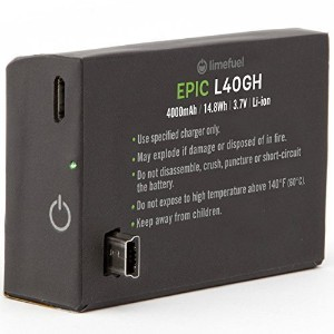 GoPro Hero 4 Extended Battery Pack 4000mAh (Limefuel Epic L40G4) Includes 2 Extended Backdoor...