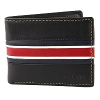 Tommy Hilfiger Mens Leather Murrey Passcase Billfold Wallet Black