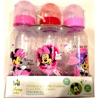 (ディズニー哺乳瓶) / Disney Baby 3-pack 9oz Bottle Set Pink Minnie Mouse BPA Free 0+ Months Medium Flow