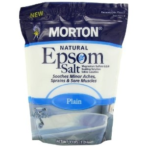 [アメリカ直送]Morton Epsom Salt Plain U.S.P 4 Pound