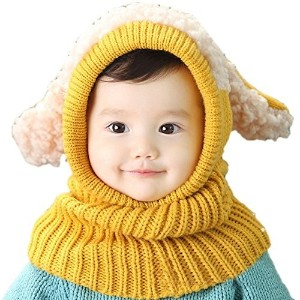 [アメリカ直送]FINEJO Lovely Baby Girl Boy Knitted Crochet Winter Hats Puppy Dog Beanie Caps
