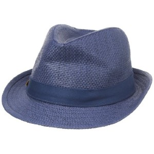 [アメリカ直送]Mud Pie Boys Straw Fedora Navy