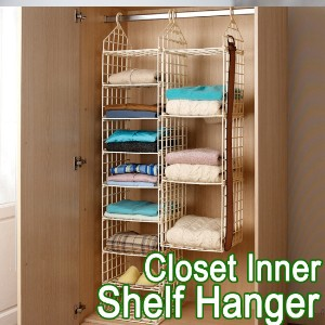 [HomenHouse Korea]Big Hit!! Closet Inner Shelf Hanger/Closet Cleanup Space Use 200%/Wardrobe...