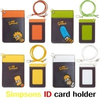 Genuine Simpsons characters embroidered collar type ID card holder / MADE IN KOREA / Free shipping