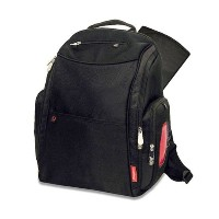 (フィッシャープライス マザーズバッグ) Fisher-Price Deluxe Sporty Diaper Backpack - black one size