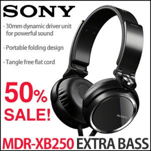 Sony MDR-XB250/B / EXTRA BASS 重低音(XB)ヘッドホン(黒)