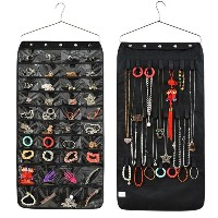 New Jewellery &amp Accessories Organiser Hanging Storage Bag With Hook 40 Pockets Cosmetic Sundries...