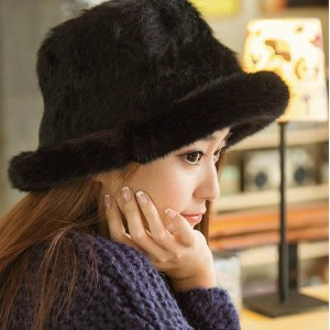 Prefall-Winter_COCO Veil/rabbit fur cap/ hat/mask ウサギの毛ニット帽・キャップ・マスク?elegant woman-MFI