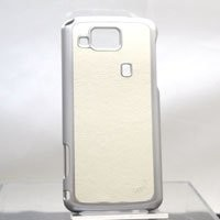 iFeather Genuine Leather Case Black for KDDI AU IS13SH - White IFIS13LEAT-WH