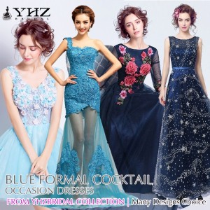 Royal Blue Gown Navy Prom Dress Light Blue Formal Dress Dark Blue Cocktail Mermaid Evening Dresses