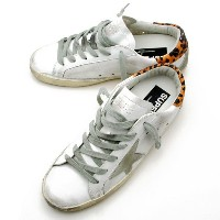 ゴールデングース GOLDEN GOOSE 【SNEAKERS SUPERSTAR】 レディース ローカット スニーカー WHITE LEPOPARD CREAM SOLE G27D121 A22