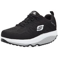 Skechers Womens Shape Ups 2.0 Fashion Sneaker Black/White 6.5 M US