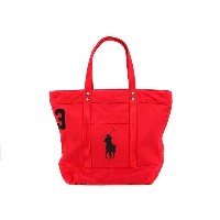 Polo Ralph Lauren ポロ ラルフローレン トートバッグ 405532853001 Big Pony Tote PARKAVE RED [ ポロ ラルフローレン | 送料無料 ]