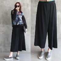 [zoozoom] Lap napping wide pants 2color / 21021