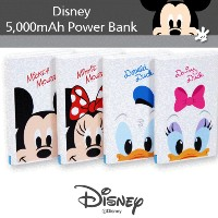 Genuine Disney 5000mAh Power Bank Baterry Charger All Mobile All Tablet ディズニーパワーバンクバッテリー充電器 アイフォン...