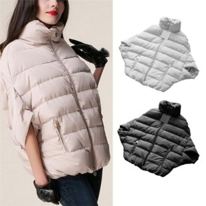 Women Warm Down Coat Parka Winter Bat Sleeve Cotton pad Jacket Outwear S xxl