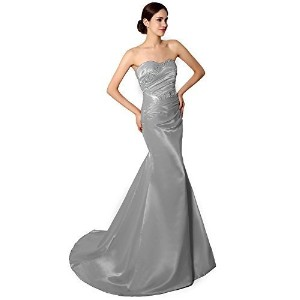 Sarahbridal Beading Fishtail Prom Party Evening Dress SD010