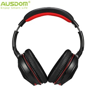 HOT Ausdom Upgrade M04S Wireless + Wired Bluetooth NFC Connection Headphone Headset with Built-in...