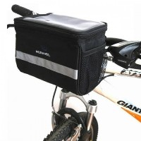 Black Bicycle Cycling Handlebar Bag Front Tube Pannier Rack Bag Basket H8110