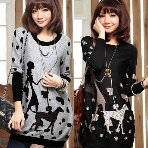 Fashion Maternity 2015 One-piece Dress Plus Size Clothing Autumn And Winter Long-sleeved Clothing...