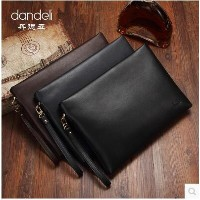 Male bag bag of young men of large capacity envelopes business zipper hand bags leather hand bag