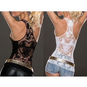 Summer Sexy Lace Vest Top Sleeveless Shirt Blouse Casual Tank Tops T-Shirt for Women Lady Girls