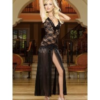 High Split Polyester Sexy Dress for Women