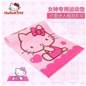 Hello Kitty Hello Kitty 8MM yoga mat lengthened and widened thickened skid cute beginner yoga...