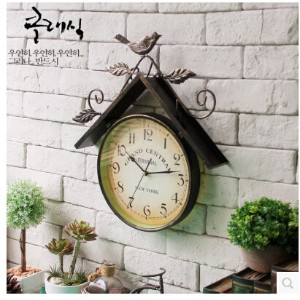 Vintage American country house style wrought iron bird home living room bedroom wall decoration...