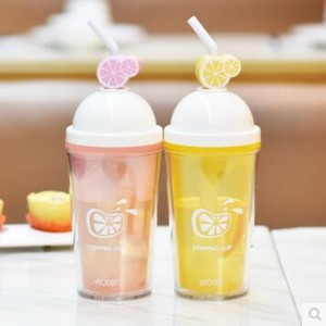 Handy children cup drinking straw portable creative personality stirring candy color student couple...